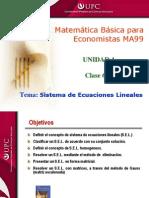 Clase 6.3 MBE Sistema de Ecuaciones Lineales
