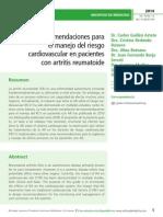 Recomendaciones para el manejo del riesgo cardiovascular en pacientes con artritis reumatoide