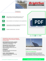 BrightSun Power - Panel Solar - Hoja Técnica - Monocristalino - BSP-5WSM
