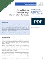 A Case of Bronchiectasis