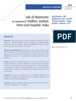 A study of depression   in diabetes mellitus