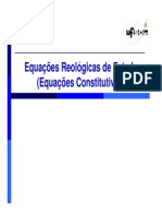 Fundamentos Em Reologia 4 - Equações Constitutivas