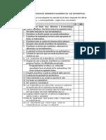 Instrumento Actitudes y Metodologia en Matematicas