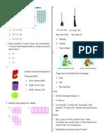 Soal Muatan Matematika Uts Kls 1 Genap