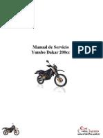 Yumbo Dakar 200 - Manual de Servicio