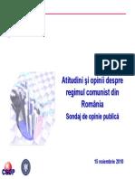 72789213 Raport Sondaj Comunism