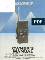 Midland - 75-720UK - User Instructions Circuit & Layout (CB walkie talkie)