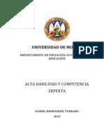 Tdr Alta Habilidad y Competencia Experta