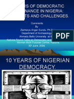 10 YEARS OF NIGERIAN DEMOCRACY