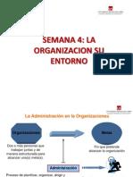 Semana 4 La Organizacion y Su Entorno