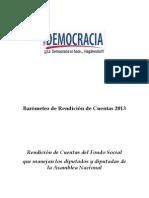 Barómetro de Rendición de Cuentas 2013