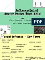 Social Influence–End of Section Review Exam Skills