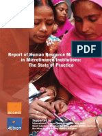Report on Human Resource Management in MFIs a State of Practice (1)