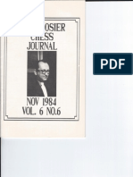 Hoosier Chess Journal Vol. 6, No. 6 Nov 1984