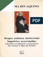 Toma de Aquino-Despre Unitatea Intelectului Contra Averroistilor-Decalog (1997)