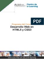 Programa Curso HTML5 CSS3