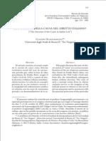 Dottrina Della Causa Nel Diritto Italiano