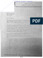 Letter to deaf student from Pacific Northwest Univesity of Health SciencesFeatherstone Letter