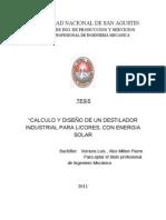 TESIS VENTURA- Calculo y Diseño de Un Destilador Industrial Para Licores, Con Energia Solar
