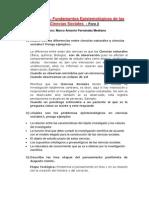 Fe13 Fundamentos Epistemologicos de Las Ciencias Sociales Foro 2 Marco Fernandez