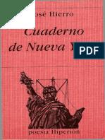 Cuaderno de Nueva York. José Hierro