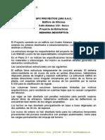 Estructuras Edificio Aldabas Memoria Descriptiva 05 02 13