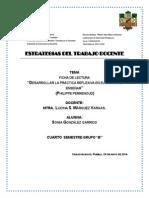 Ficha de Lectura. Desarrollar La Practica Reflexiva en El Oficio de Enseñar.