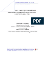 Displasia Óssea Tratamentos e Métodos Radiográficos Na Incidência de Displasia Coxofemural Em Cães