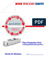 Fiery Production Print Training Standard Modules