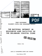 The National Interest in Resources and Facilities of the Delaware Coastal Zone