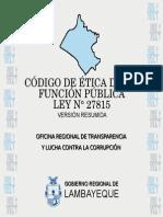 Codigo de Etica de Funcionario Lambayeque