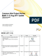 Common Abis Project Review MoM 11-12 Aug 2011 Update.ppt