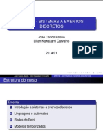 Discrete Events Systems - Class 1 and 2