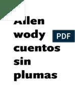 Allen Woody - Cuentos Sin Plumas