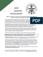 Parent Information 2014-15