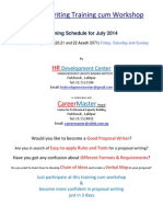 Proposal Writing Training in July 2014