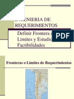 II) INGENIERIA de REQUERIMIENTOS. Definir Frontera de Los Requerimientos y Estudios de Factibilidades.