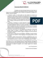 Contraloría sancionará a auditor de Caja Metropolitana por entregar informe a Fiscalía