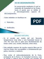4. Metodo de Conservacion Por Deshidratacion y Secado