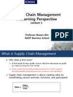 supply chain management. Lecture 1.
