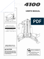 Weider 4100 User manual