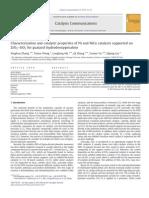Characterization and Catalytic Properties Ni, NuCu on ZrO2, SiO2 for HDO GUA