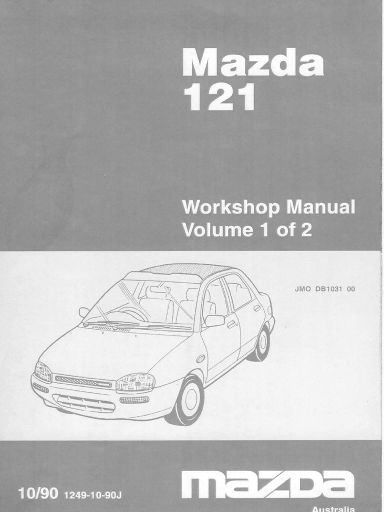 Mazda B3 engine service manual | Cylinder (Engine) | Electrical Connector