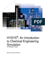 Hysys an Introduction to Chemical Engineering