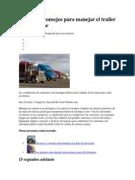 Técnicas y Consejos Para Manejar El Trailer de Un Tractor