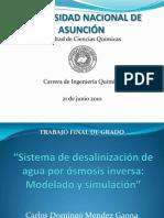 Desalinizacion Agua Osmosis Inversa
