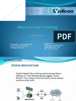 Observer User Training