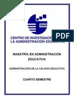 Administración de la Calidad Educativa