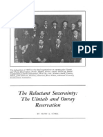 The Reluctanct Suzerainty - Uintah and Ouray Reservation