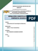 extracción e identificación de compuesto organicos